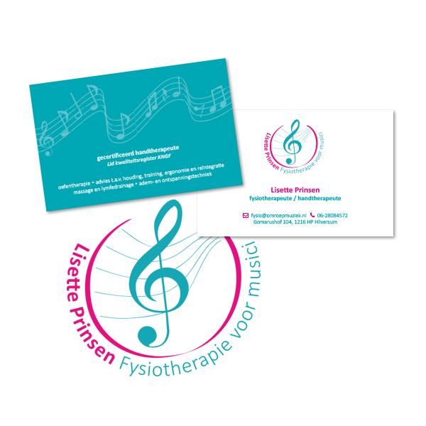 Lisette Prinsen logo en visitekaartje
