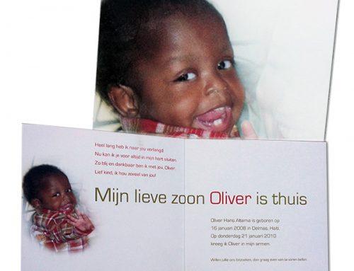 Adoptiekaart Oliver
