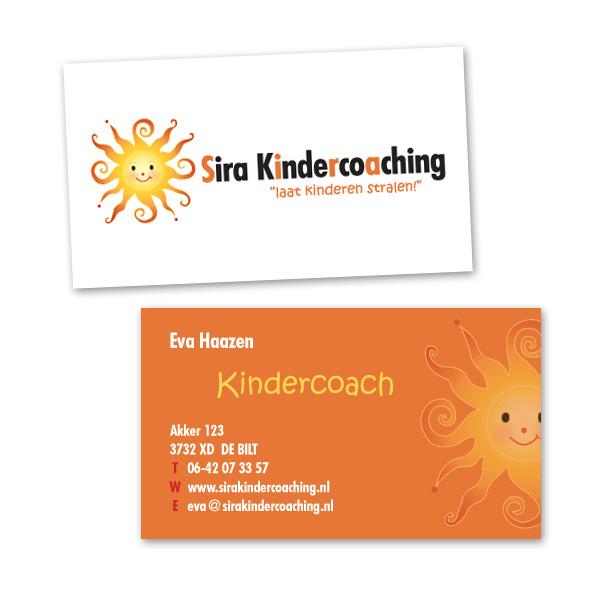 Sira Kindercoaching visitekaartjes