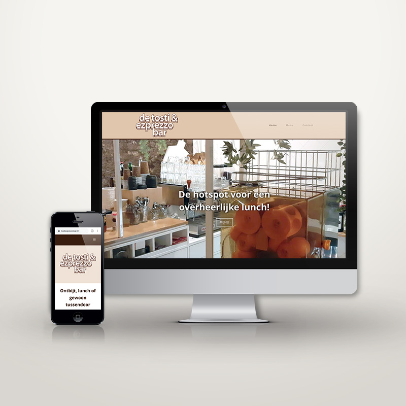 Website Tosti & Ezprezzobar